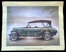 Poster automobile - Affiche Pathfinder 1918 - 37 x 29 cm - Envoi sous rouleau