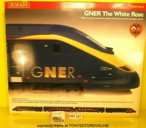 hrt187 hornby r2197 gner the white rose train pack c/w divisible coaches xclnt