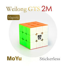 Moyu GTS2M 3x3x3 Magic Brain Teaser Puzzle Cube Speed Magnet Cube Toy Colorful