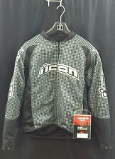 NEW ICON Black And Silver Hooligan 2 Jacket  X-large Ref 80725  See Listing