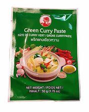 50 G Cock Verts Curry Pâte Vert Thaï Thaïlande Vert Petite Paquet