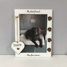Personalised Photo Frame, Paw Prints -My Dog - My Best Friend Animal Lover Gift