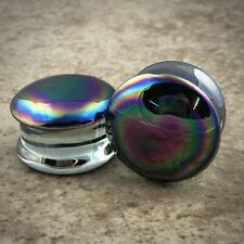 Oil Slick Glass Plugs (Pg-546) gauges Pick Your Size