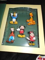 DISNEY Storybook Christmas Ornament Collection: MICKEY & FRIENDS, 5pc Set (new)