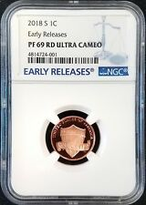 2018 S Proof Lincoln Cent, Early Releases, PF 69 RD Ultra Cameo by NGC!