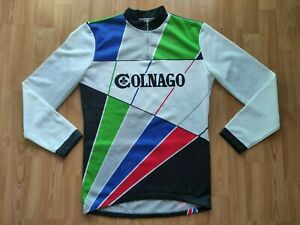 Colnago Vintage Long Sleeve Cycling Jersey Size: 4/~L  RARE !