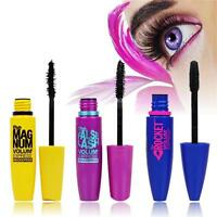 Makeup Waterproof Black Thick 3D Mascara Fiber Eyelash Extension Curling Length♡
