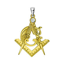 Masonic Freemasonry Ladies Gift Antique Gold Pendent