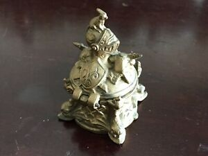 Antique Inkwell Knight Helmut