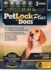 PetLock Plus Dog Flea Treatment Pack of Three, For dogs 23-44 lbs.