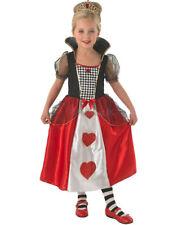 Child 9-10 Queen Of Hearts Fancy Dress Costume Princess Alice in Wonderland Girl