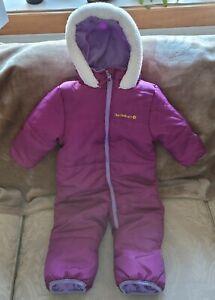 Pink Platinum Girls 12 Month Purple Hooded Winter Snow Suit