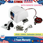 Electric Anchor Winch W Remote Control Marine Fishing Sailing Boat Yacht 45 Lbs
