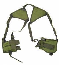 Fondina Ascellare in Cordura Verde Militare per Pistola porta 2 Caricatori