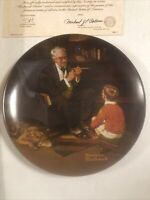Norman Rockwell The Tycoon 1982 Plate # 17503 H