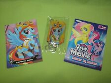 My Little Pony THE MOVIE Necklace G4 Gold DOG TAG &Trading Card RAINBOW DASH Set
