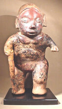 Pre-Columbian Colima Figure W/Staff Ex: Sotheby'S '79
