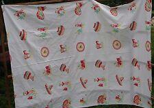 Vintage Tablecloth -  Mexican, Tex-Mex Cactus, Southwestern  Motif