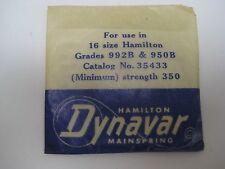 HAMILTON  P/W  MAINSPRING 16s  DYNAVAR #35433 / Minimum  ( 992B - 950B )