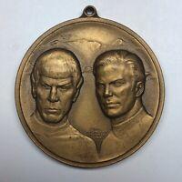 Star Trek VTG Kirk Spock Bronze Medallion Necklace Individually Numbered 15096