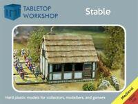 28mm Medieval Stable Tabletop Workshop- NEW Highly Detailed  Hard Plastic 1/56