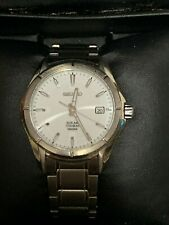 Seiko Solar Titanium White Dial Men's Watch SNE139P1 Everyday Watch boxed