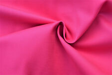 D128 rosa fucsia super sottile gabardina 2 piegare Cotone Stretch Made in Italy