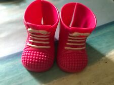FISHER PRICE LITTLE MOMMY DOLL REPLACEMENT PINK BOOTS  SHOES