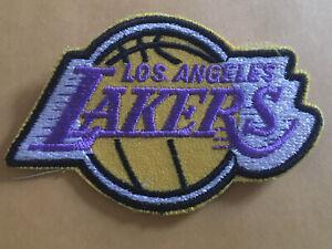 """Vintage 1980's Los Angeles Lakers Sew On Patch LA Hat Jacket Unused 3.5"""""""