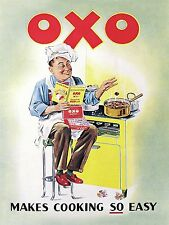 OXO Makes Cooking So Easy, Retro Vintage Metal Aluminium wall Sign