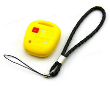 Yellow Silicone Case Cover For Toyota Avensis Camry Prado Remote Key 3 Buttons