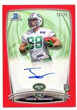 2014 Bowman Chrome Jace Amaro RED Refractor AUTO Rookie /25
