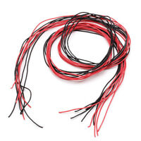 26AWG Gauge Silicone Wire Flexible Stranded V# Copper Cables 5m For RC Black Red