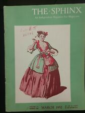 Vintage Women Magician Issue 1952 Sphinx Magazine Vol 51 No 1