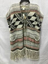 DENIM & SUPPLY SL CROCHET TIE PONCHO MULTI COMBO XS/S