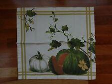 Williams Sonoma Botanical Pumpkin Napkins Fall Autumn Thanksgiving Linens Set 11