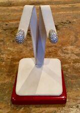 STERLING SILVER 925 *ABSOLUTE CLUSTER EARRINGS BEAUTIFUL!!!