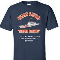 COAST GUARD STATION LAKE WORTH INLET-FLORIDA *COAST VINYL PRINT SHIRT/SWEAT