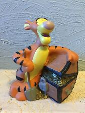 "Tigger Bank Walt Disney Winnie the Pooh PVC Coin Treasure Chest 7"" Tiger"