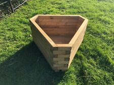 Christmas Gift Triangle Wooden Planter