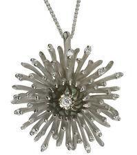 14 Carat White Gold SI1 Fine Diamond Necklaces & Pendants