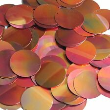 30mm Sequins Red Gold Rainbow Iris Shiny Metallic. Made in USA