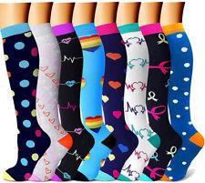 Compression Socks For Women Men 15-20 mmHg Medical,Nursing,Running,Travel