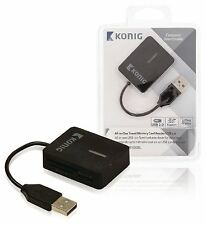 Konig All-in-one travel memory card reader USB 2.0