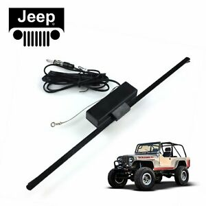 Jeep Hidden Amplified Antenna FM Radio Signal Booster Willys cj7 hurricane t18