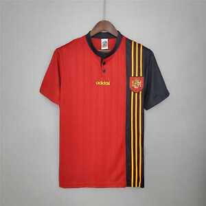 1996 Spain Home Retro Soccer Jersey