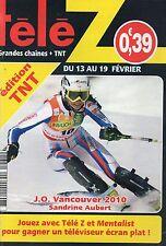 TELE Z N°1431 sandrine aubert JO vancouver 2010