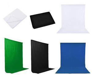 Toile de Fond 1.8-6m Mousseline Coton Tissu Fond de Studio Photographie Décor