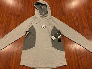 '47 Brand Womens Pittsburgh Steelers Forward Kickback Hoodie Sweatshirt Medium M