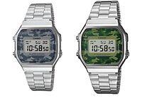 CASIO A168WEC-1EF A168WEC-1e A168WEC-3EF A168wec-3e Retro Camouflage GARANTÍA